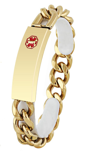 Medical Alert Bracelet - ID Bracelet In Ion Gold