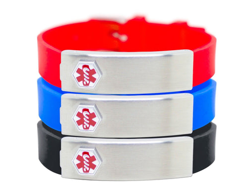 Medical Alert Bracelet - ID Bracelet Stainless Steel