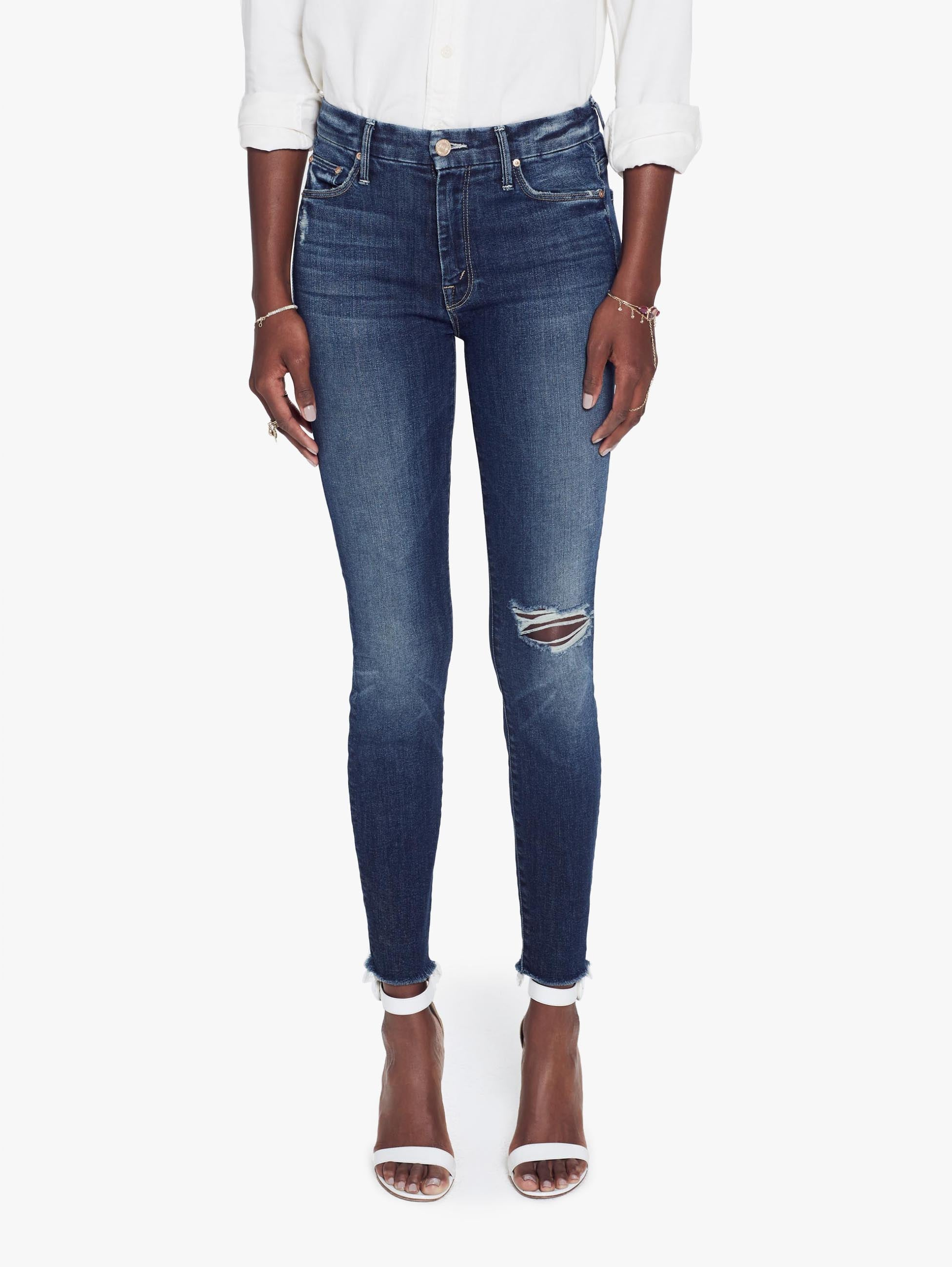 3d01b6439fac2 High Waisted Looker Ankle Fray - Close To The Edge