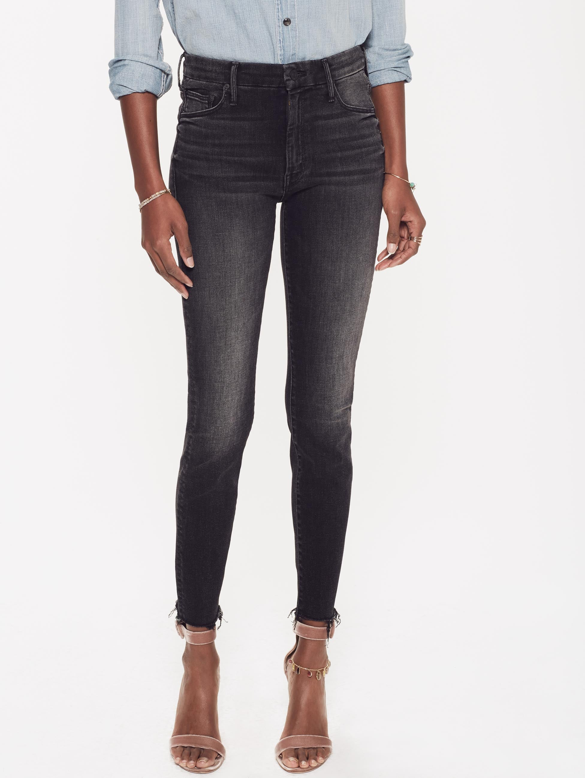 2b6f890540e1f High Waisted Looker Ankle Fray - Night Hawk