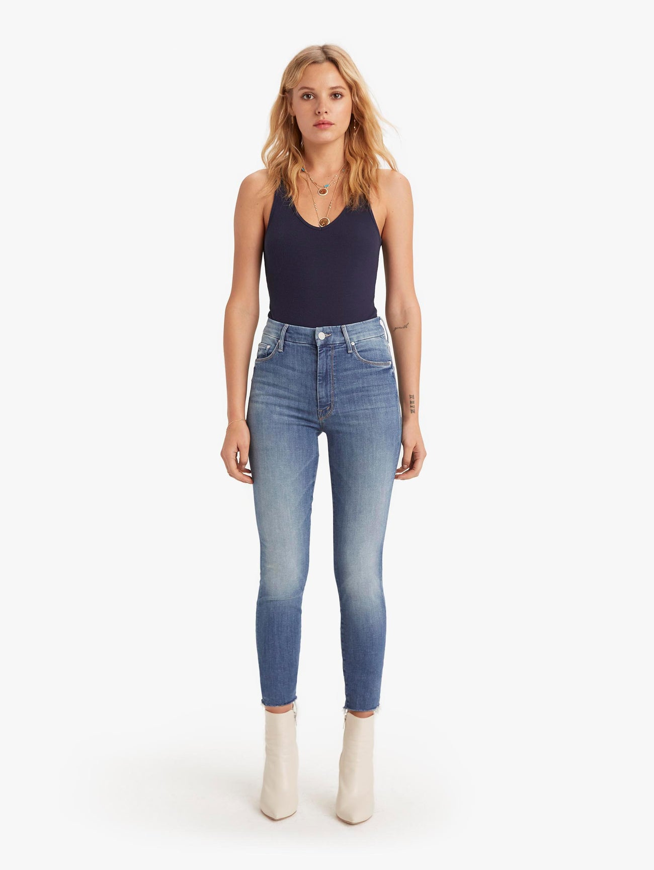 High Waisted Looker Ankle Fray - One Smart Cookie