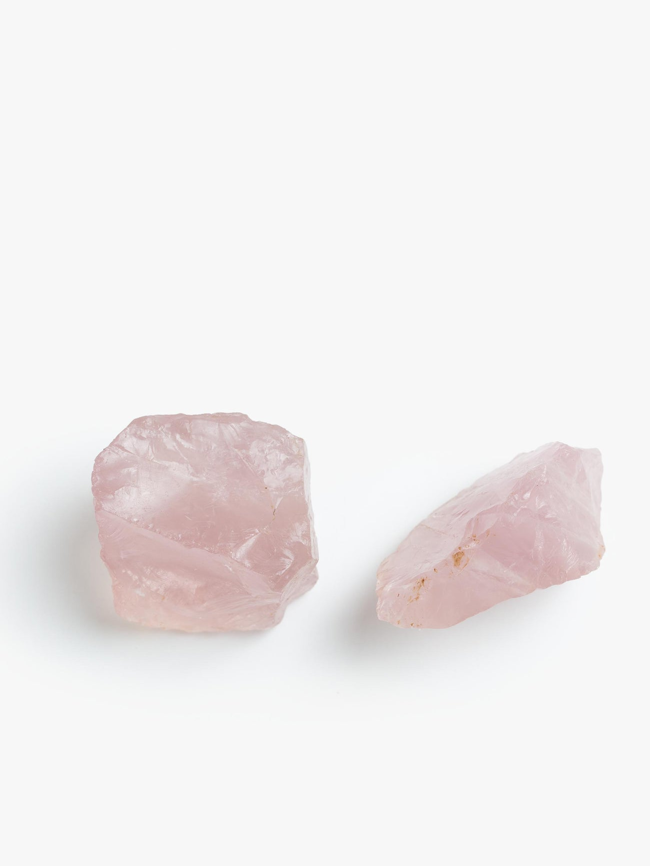 Rose Quartz Chunks Single - Multicolor
