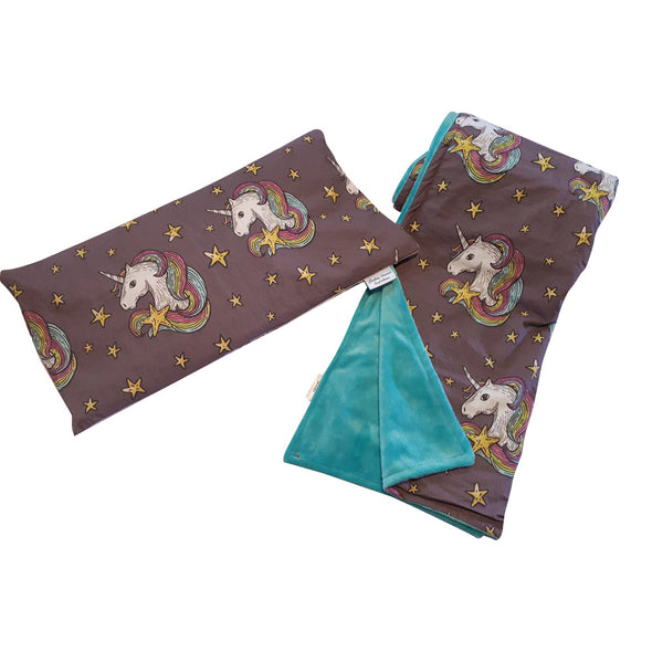 Buckwheat Pillow & Blanket Set - Unicorn