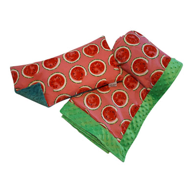 Buckwheat Pillow & Blanket Set - Watermelon