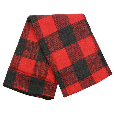 Buffalo Plaid Mexican Throw Blanket - Red
