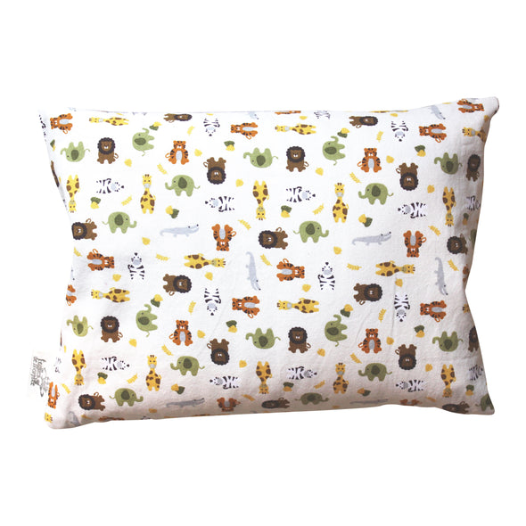 Cotton and Organic Buckwheat Pillow - Animals