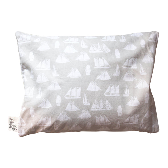 Cotton and Organic Buckwheat Pillow - Boats