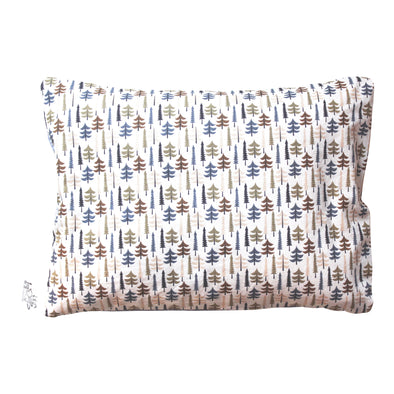 Cotton and Organic Buckwheat Pillow - Conifers