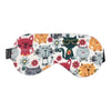 Cotton Flannel Sleep Mask - Cool Cat