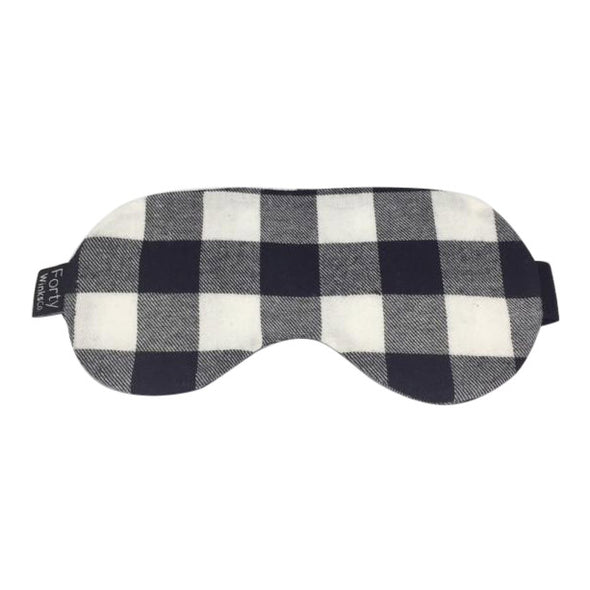 Cotton Flannel Sleep Mask - Plaid