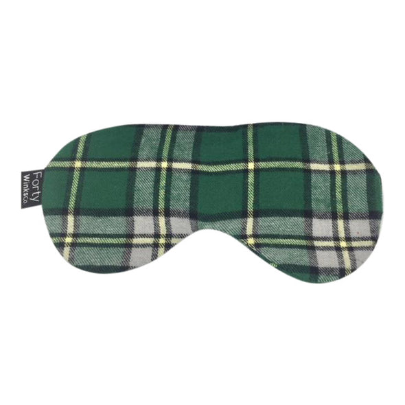 Cotton Flannel Sleep Mask - Tartan