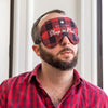 Designer Satin Sleep Mask - Sleep in Plaid