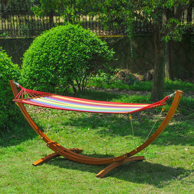 Garden Bed Hammock with Hardwood Stand