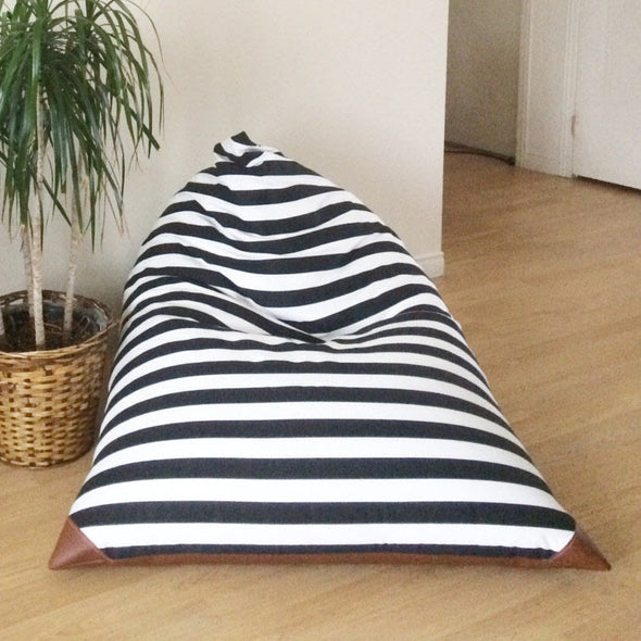 Oversized Bean Bag Chair - Stripes