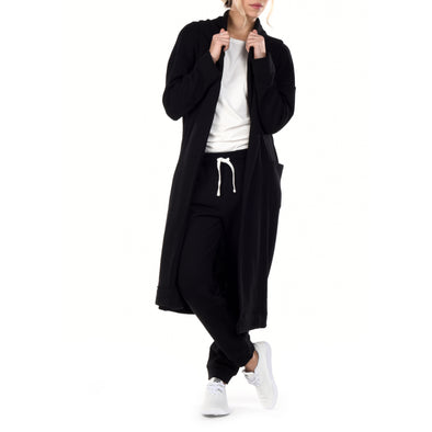 Long Cardigan Robe - Black