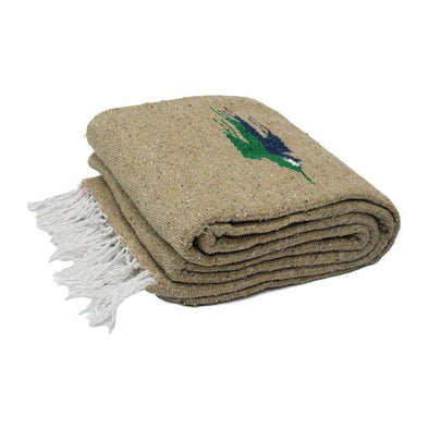Recycled Fiber Mexican Thunderbird Blanket - Beige