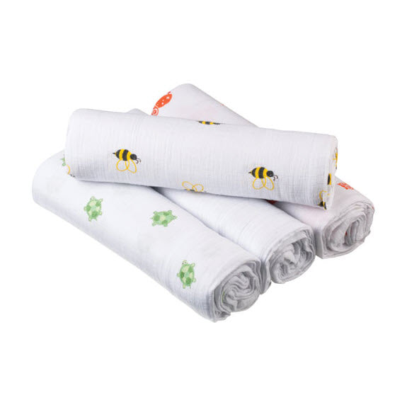 Natural Muslin Swaddle 4-Pack