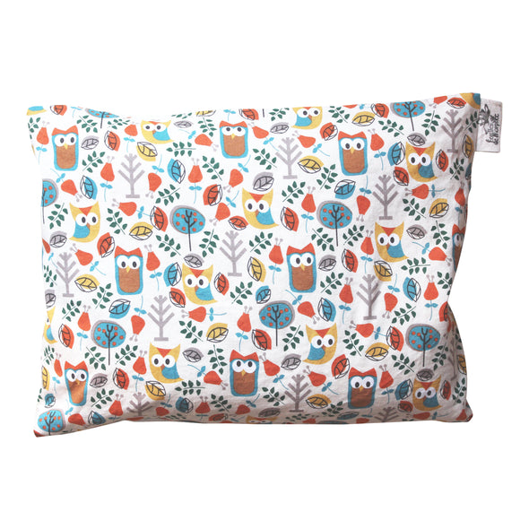 Cotton and Organic Buckwheat Pillow - Owl