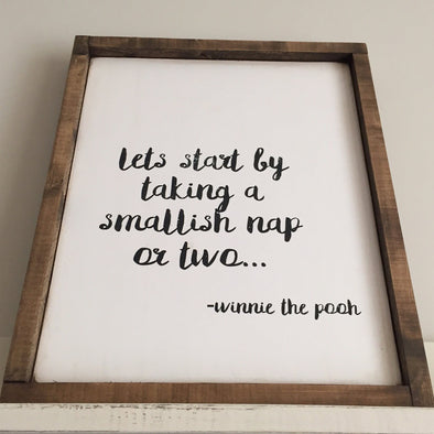 Smallish Nap Rustic Wood Sign