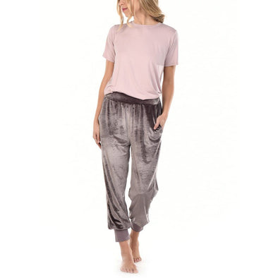 Velour Lounge Pant - Flint