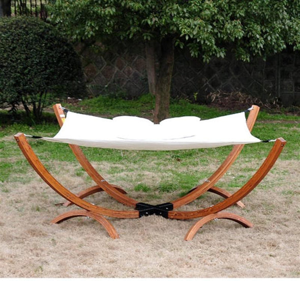 Solid Wood Arc Double Hammock Bed
