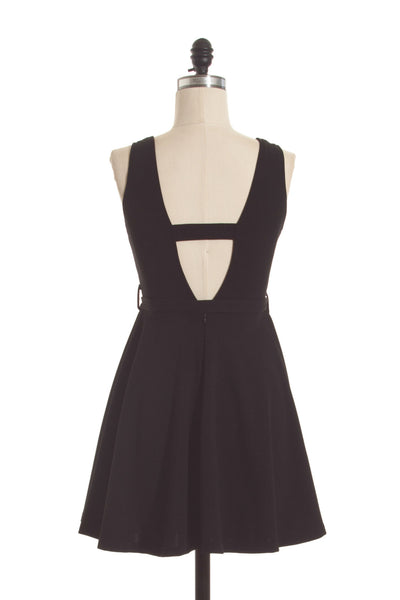 Open Back Color Block Annette Flare Dress
