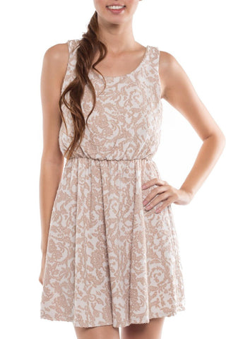 Floral Cinched Waist Taliyah Tank Dress