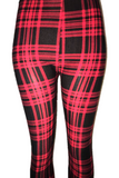 Black & Red Plaid Leggings