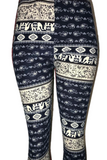Navy Elephant Leggings