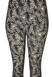 Black & White Palm Frond Leggings
