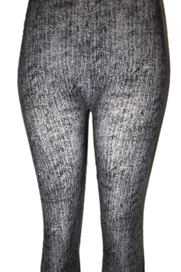 Grey Woolly Print Leggings