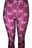 Purple Arrow Print Leggings