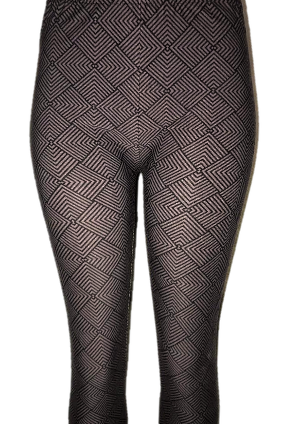 Simple Grey & Black Patterned Leggings