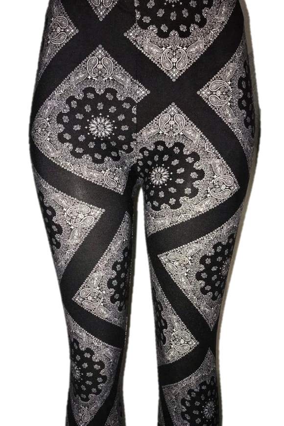 Black & White Bandana Print Leggings