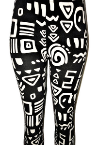 Black & White Bold Patterned Leggings