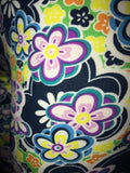 Bright Blue & Yellow Floral Print Leggings