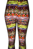 Electric Aztec Striped Leggings
