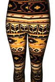 Orange & Brown Aztec Leggings