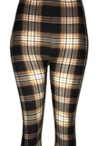 Brown & White Plaid Leggings