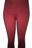 Burgundy Solid Leggings