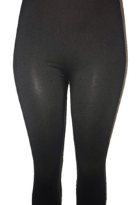 Black Solid Leggings