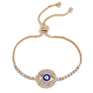 Centered Evil Eye EZ-On & EZ-Off Bracelet - 112