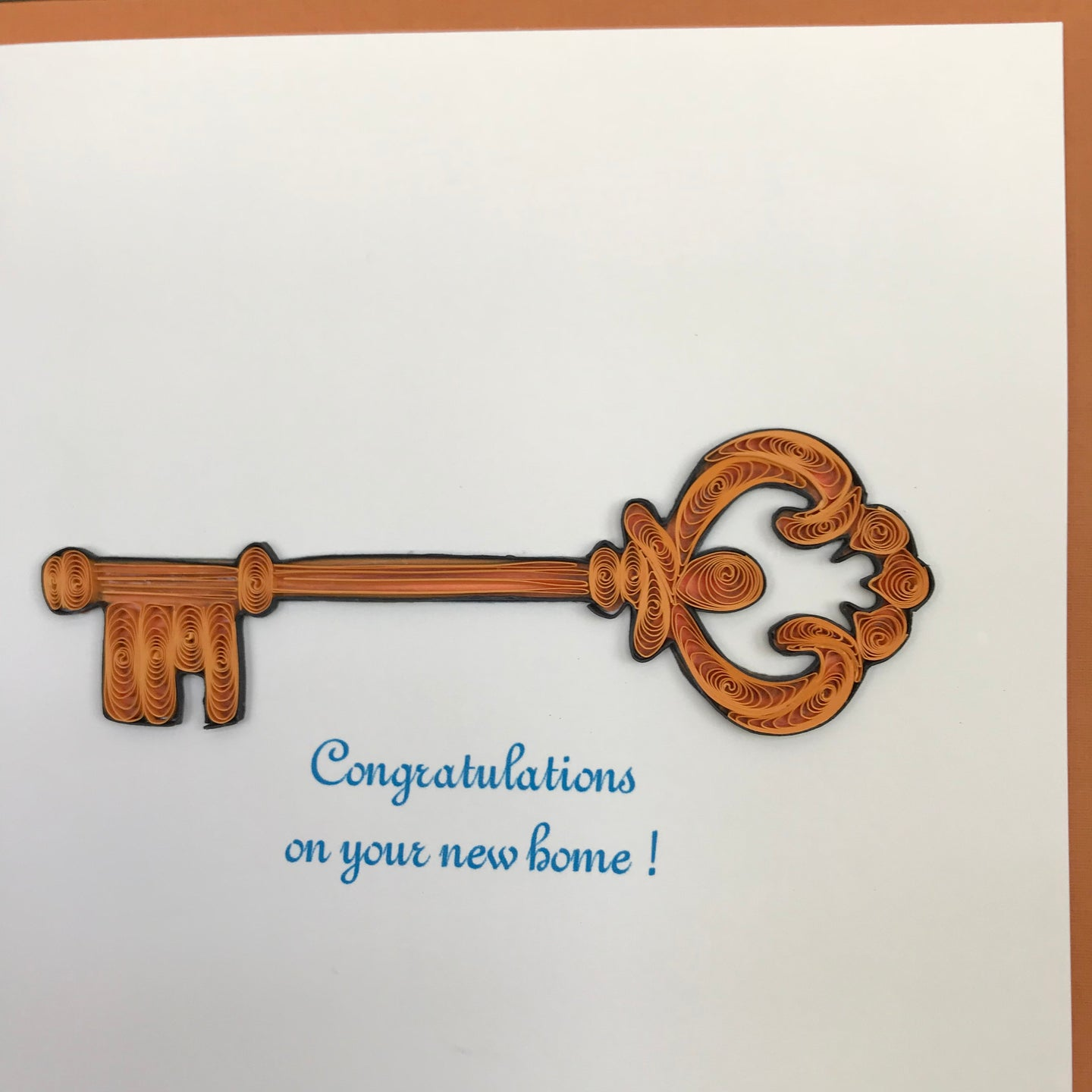 Quilled Key Blank Card