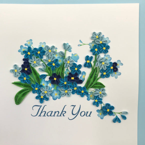 Quilled Thank You Flowers Blank Card