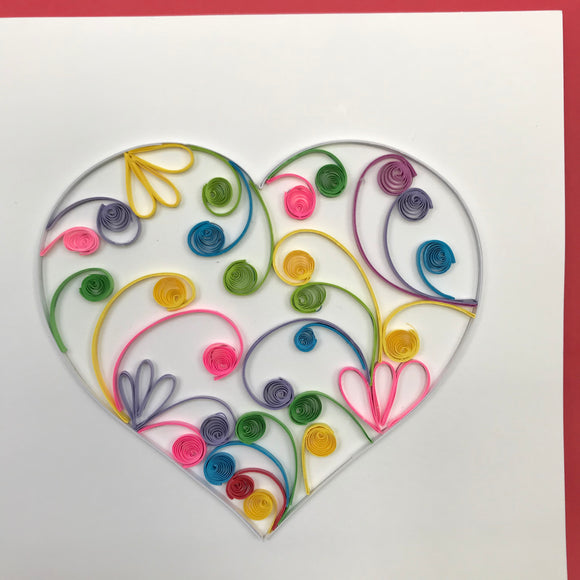 Quilled Heart Blank Card