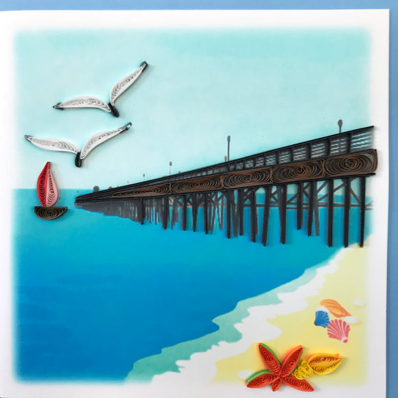 Quilled Pier Blank Card