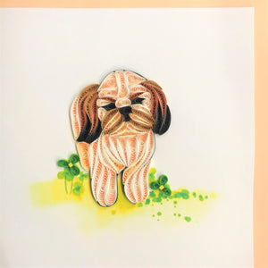 Quilled Shih Tzu Blank Card