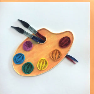 Quilled Painter's Palette Blank Card