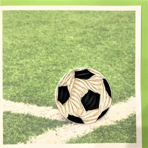 Quilled Soccer Ball Blank Card