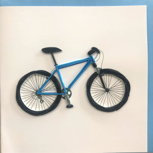 Quilled Blue Bicycle Blank Card